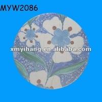 Violet painting design tea cup Porcelain pottery ceramic coffee art saucer