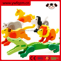 Wholesale Colorful Wooden Animal 3D Puzzle