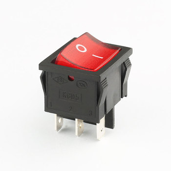 hot sale red 15a 250v t120 kcd5 on off on illuminated rocker switch
