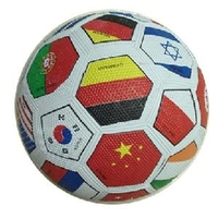 5# Multi national flag rubber soccer ball/ rubber toy balls/ toy football