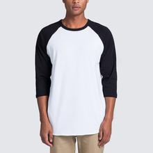 2018 Men's customizing plain baseball 3/4 raglan long sleeve t shirts