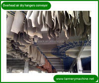 tannery machine for sheep leather leather air dry hooking hangers tunnel conveyor for goat or Cow