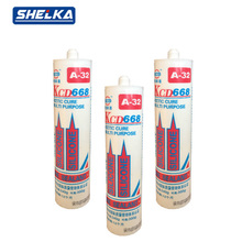 Glass mastic silicone sealant for stainless steel curing