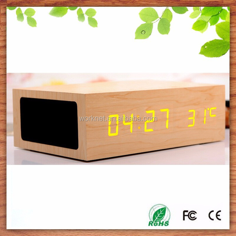 2015 new product wood bluetooth speaker with alarm clock