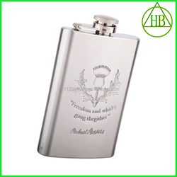 Empty Food Grade Stainless Steel Cigar Hip Flask Wholesale