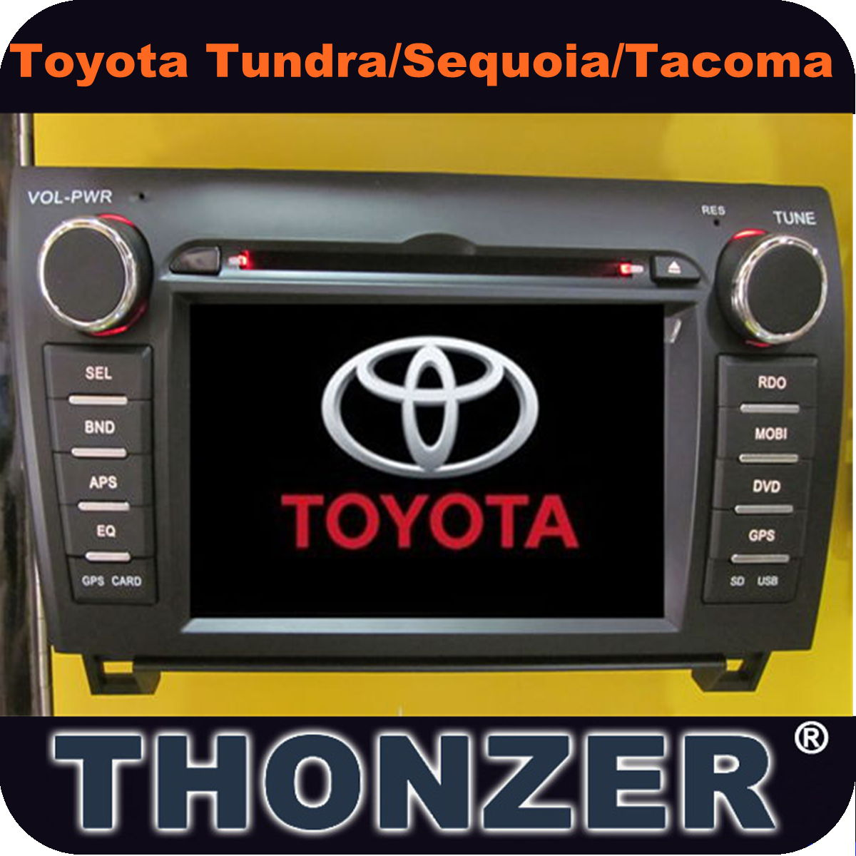 "7"" car dvd player with gps for toyota venza (TZ-DG724)"