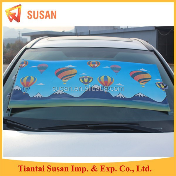 full color printing pe film roller shade front windshield