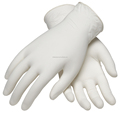 Milky white latex powdered medical gloves malaysia