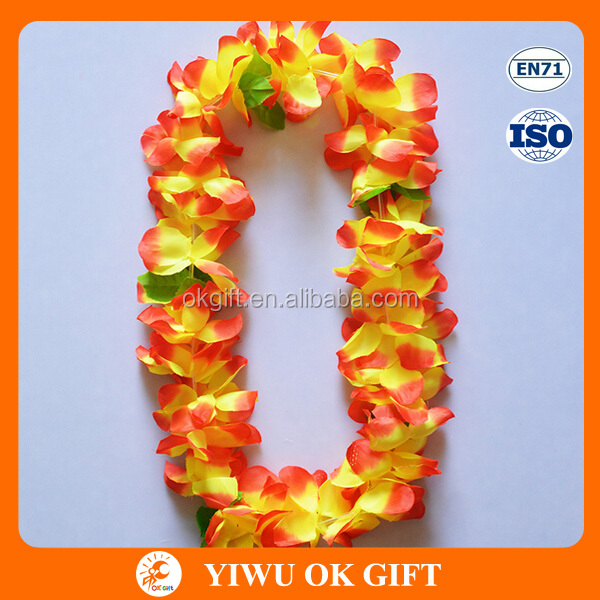 Promotional Colorful Hawaiian Necklace Party Flower Hula Leis