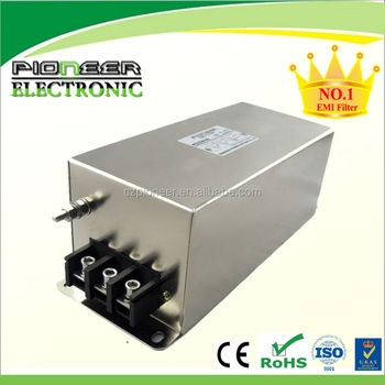with terminal block three phase emi power line filter