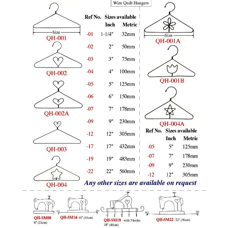 Awesome Wire Quilt Hangers Gallery - Electrical Circuit Diagram ...