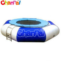 custom made air bouncer inflatable trampoline floating in water