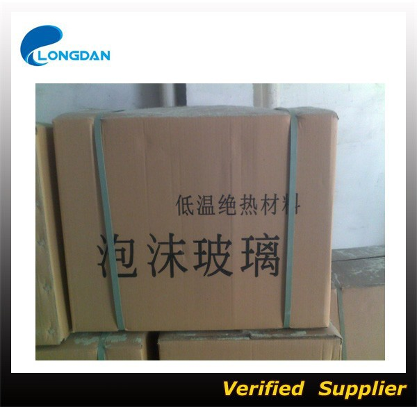 140kg/m3 ASTM Foam glass thermal insulation pipe