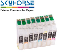 Compatible ink cartridge for epson, refillable ink cartridge for High quality and Permanent chip