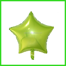 new colors cheap custom printed apple green heart balloon