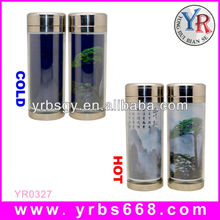 logo and shape custom high quality stainless steel water cup