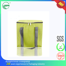 600D nylon square bottom thermal bag delivery for frozen food