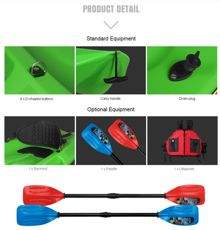 customized HDPE blow molded kayak for sale