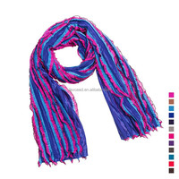 New Women's Oversize Large Stripe Scarf Shawl Cowl Winter Blanket Scarf