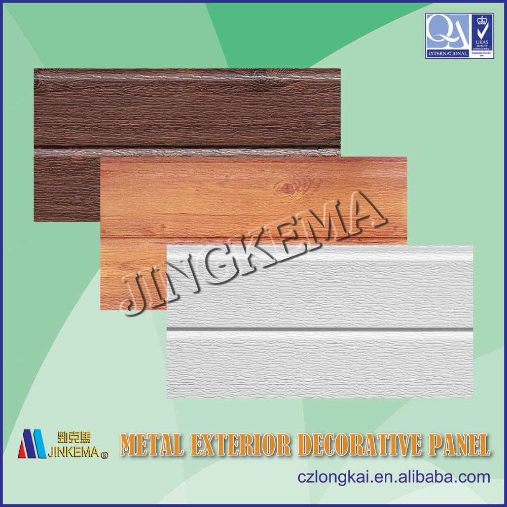 Heat isolated Eco exterior wall panels for prefabricated houses, buildings