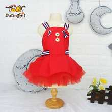 Wholesale Summer Pet Dog Sleeveless Red Fashion Dog Dress Puppy Clothes