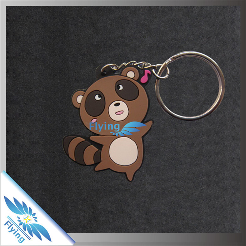 soft and adorable 2D cartoon pvc keychain/ silicone key chain