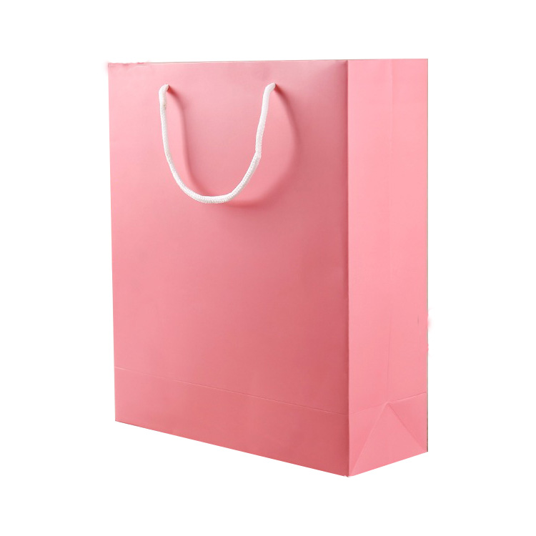 Glossy Custom Made Brand Name Craft Cosmetic Foldable Shopping kraft Paper Bags
