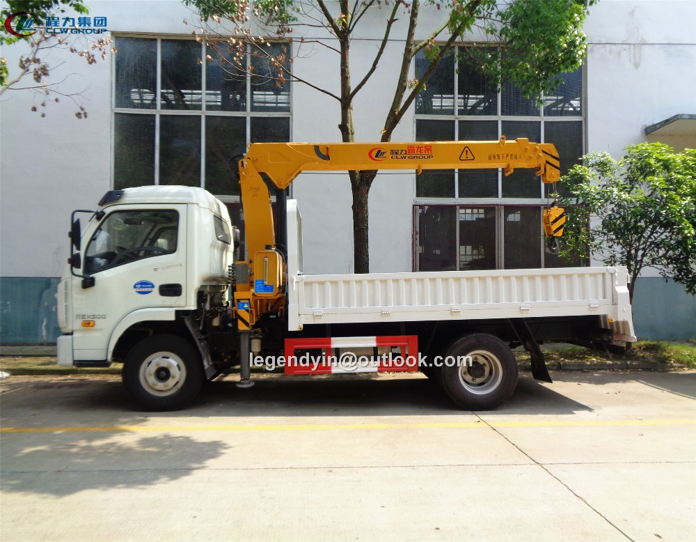 Condition new cheap price mini 2 tons 3 tons crane truck telescopic straight boom for sale