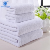 gaoyang white terry towel set 100% cotton towels