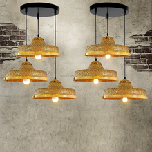 Pendant-Light-MG-1413 Hand woven straw hat pendant lamp creative garden restaurant Hot pot shop restaurant lamps