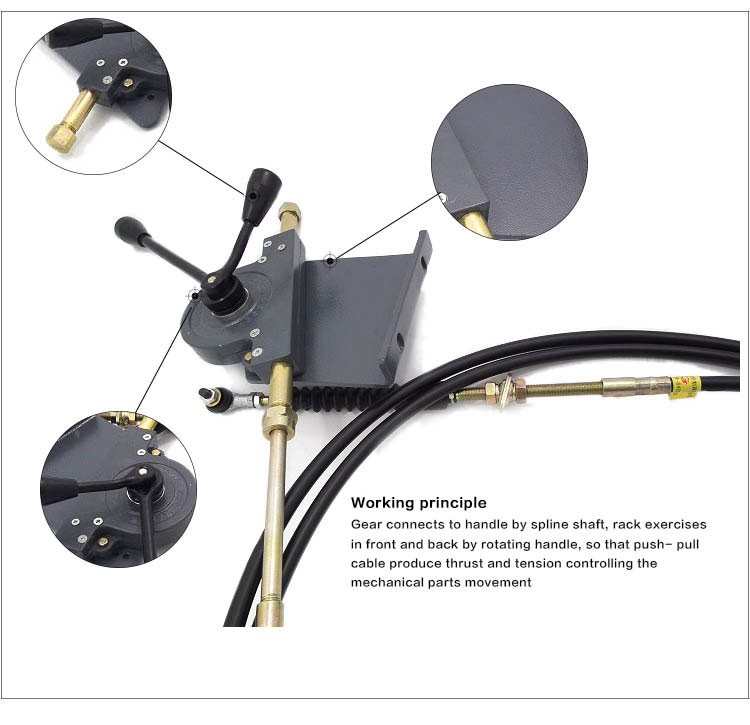 Push Pull Locking Cable : Gj iso certificate push pull cable lever