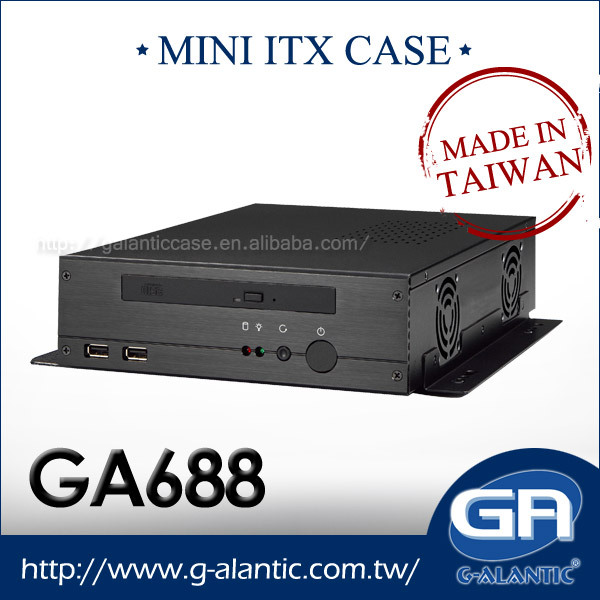 GA688 - Mini ITX Case for Mini PC Case Desktop Computer