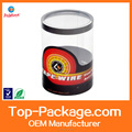 custom made printing clear plastic cylinder packaging