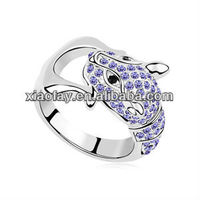 R8933 2013 leopard animal shaped cheaper alloy ring