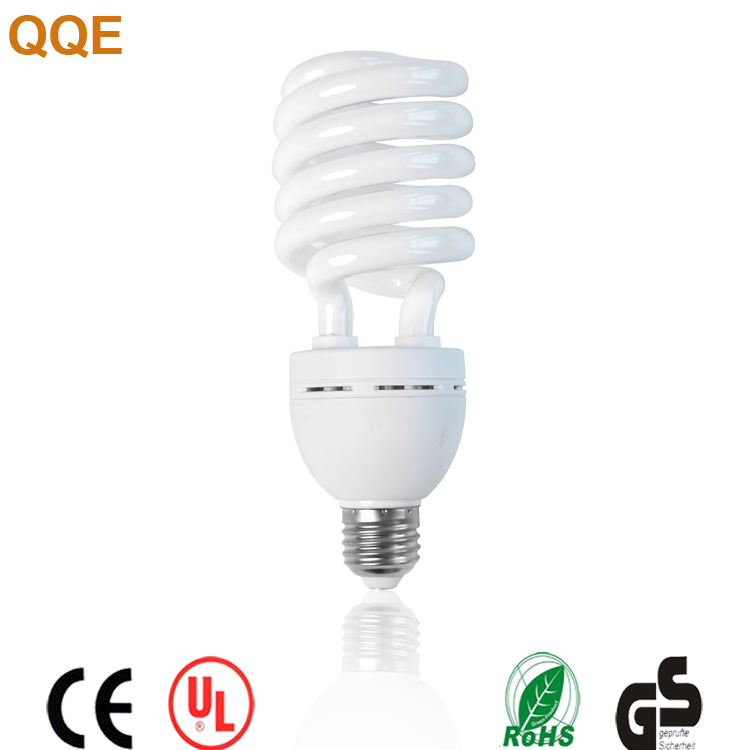 High lumen low price China products half spiral shape 9w CFLfluorescent energy saving lamp bulbs