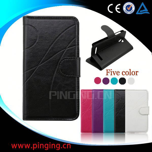 factory price wallet leather case for samsung galaxy s5 sv i9600 i9500x g900