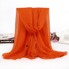High Quality Chiffon Solid Color Large 150*90CM pashmina shawl nepal
