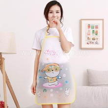 Customized chef butcher barber bbq kitchen cooking plastic apron promotional non woven pe pvc apron