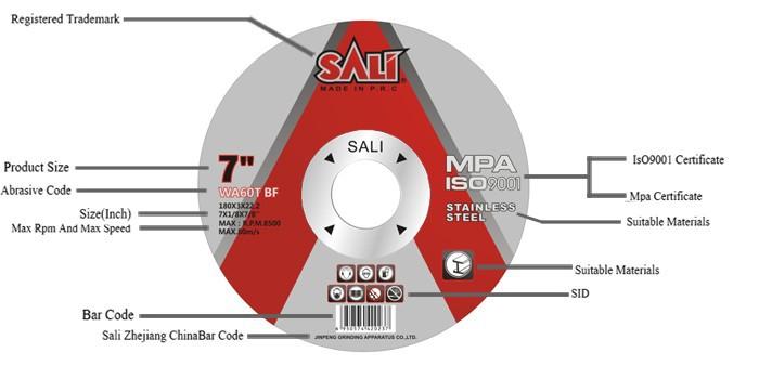 Rueda profesional del corte del inox de la alta calidad, disco de corte de 4 pulgadas 1.2mm