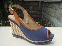 High fashion light wedge wedding shoe wedge heel sandal for women