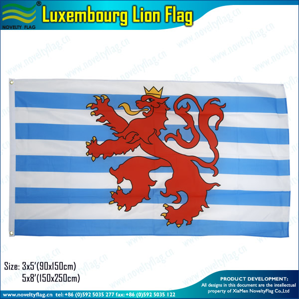 75D Polyester 3*5ft Luxembourg Lion Flag