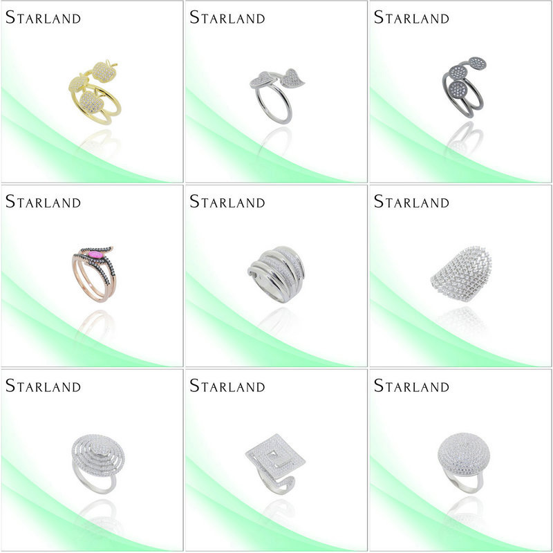 Starland Factory Price Hot Sell Silver Ring Jewelry reseller