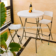 fashionable 2.6ft 80cm plastic folding bar height table outdoor