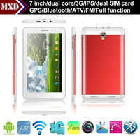New 7 inch MTK8377 dual core Cortex-A9 1.2GHZ Built-in 3G IPS screen 1G/8G with GPS, Bluetooth, ATV and FM