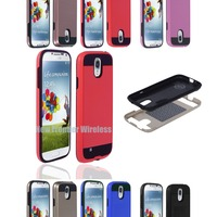 Manufacturer Wholesale Hard Luxury PC + TPU Silky Texture Durable Mobile Phone Case for Samsung Galaxy S4