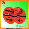 Aromatic air freshener/fragrance air card/paper air fragrance