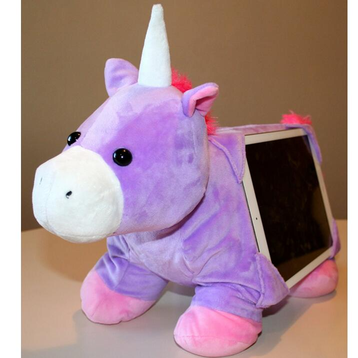 Lap Pets Stuffed Animal Tablet Pillow Unicorn Holder for Tablets