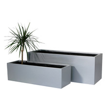 Factory sales high strength durable fiberglass resin outdoor rectangle flower pots for home and garden