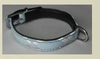 Smooth leather radium cat collar