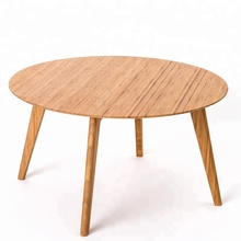 Factory Promote cheap bamboo bar table round coffee table